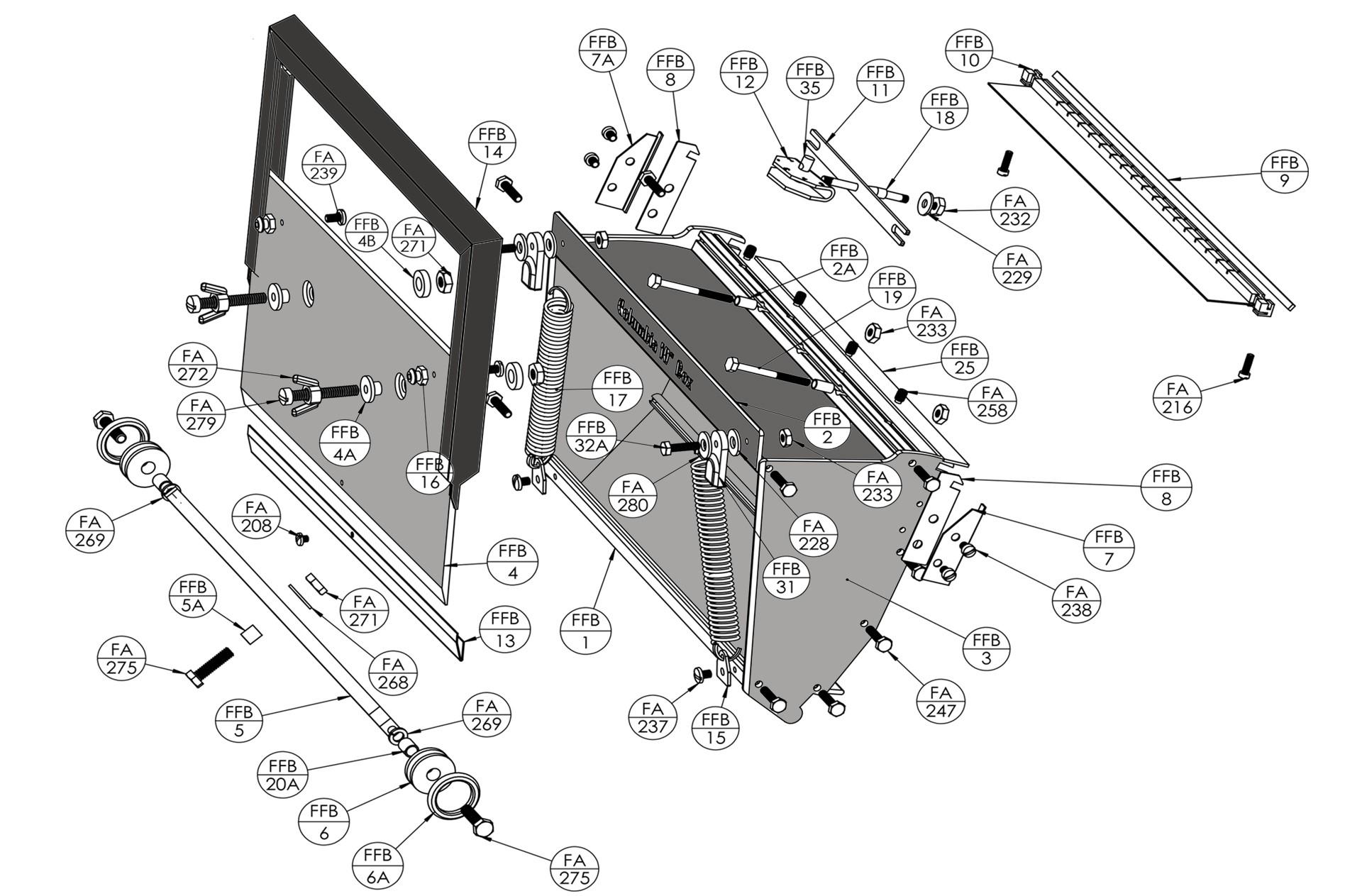 Columbia Flat Box Parts List