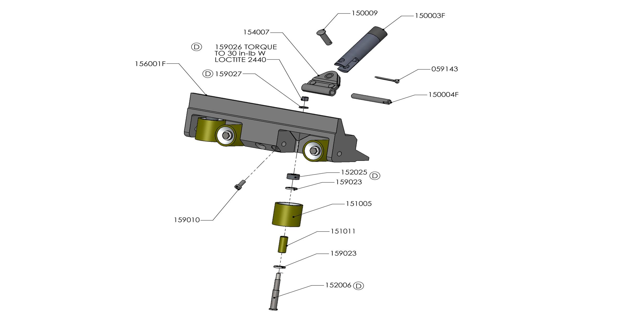 TapeTech Corner Roller Parts List
