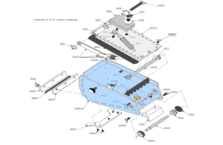 BlueLine Nail Spotter Parts List
