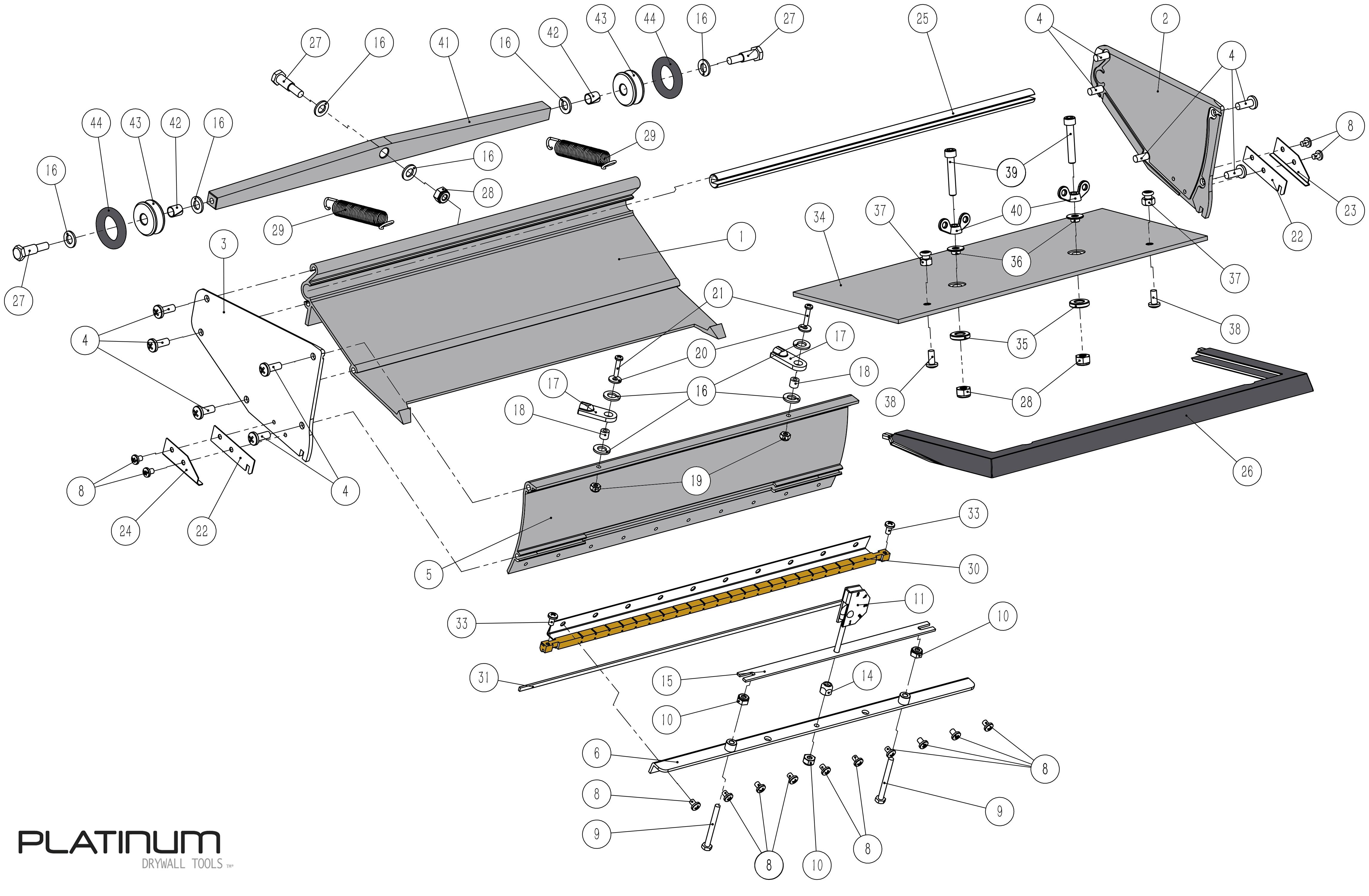 Platinum Flat Box Parts List