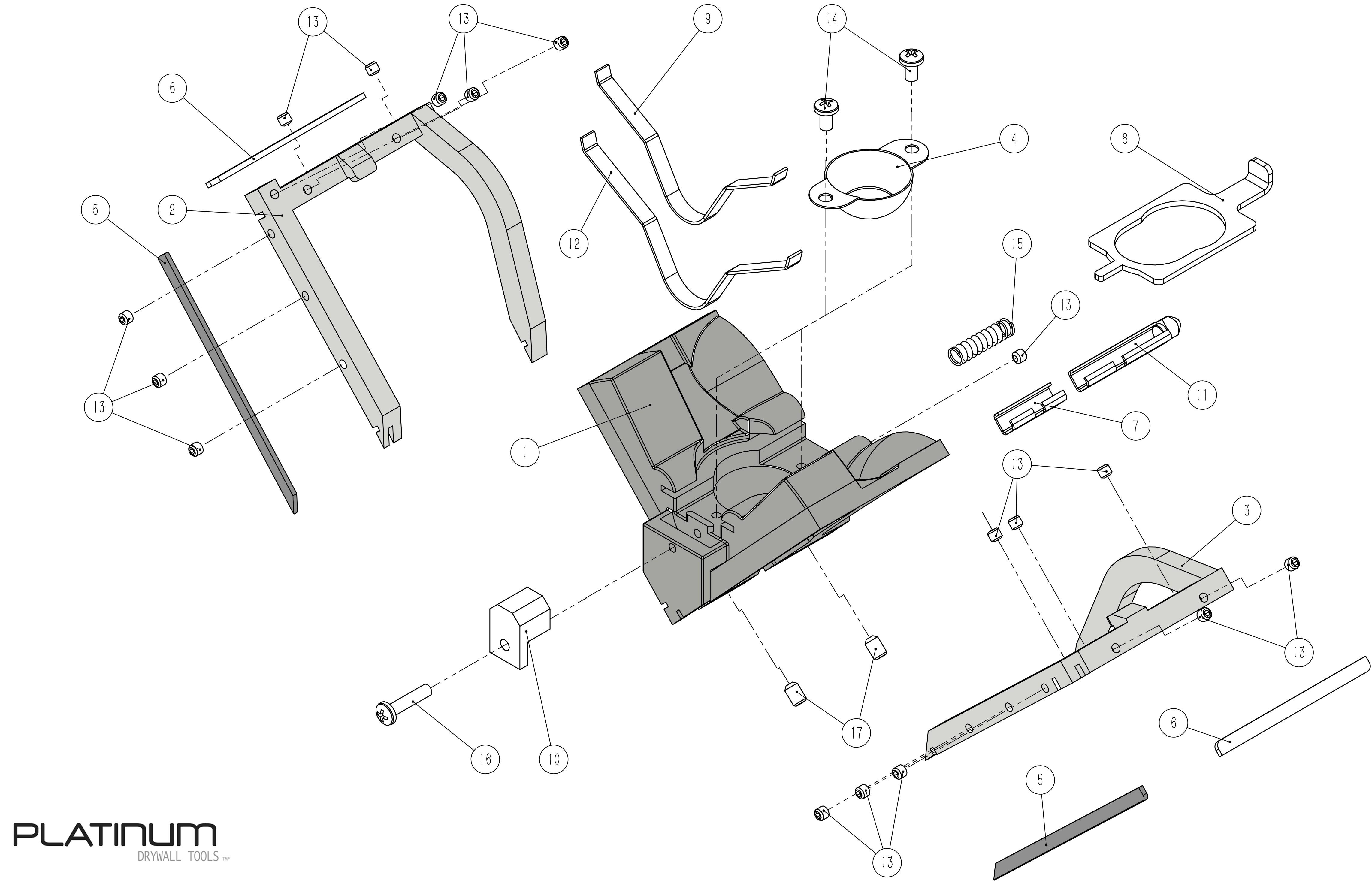 Platinum Angle Head Parts List