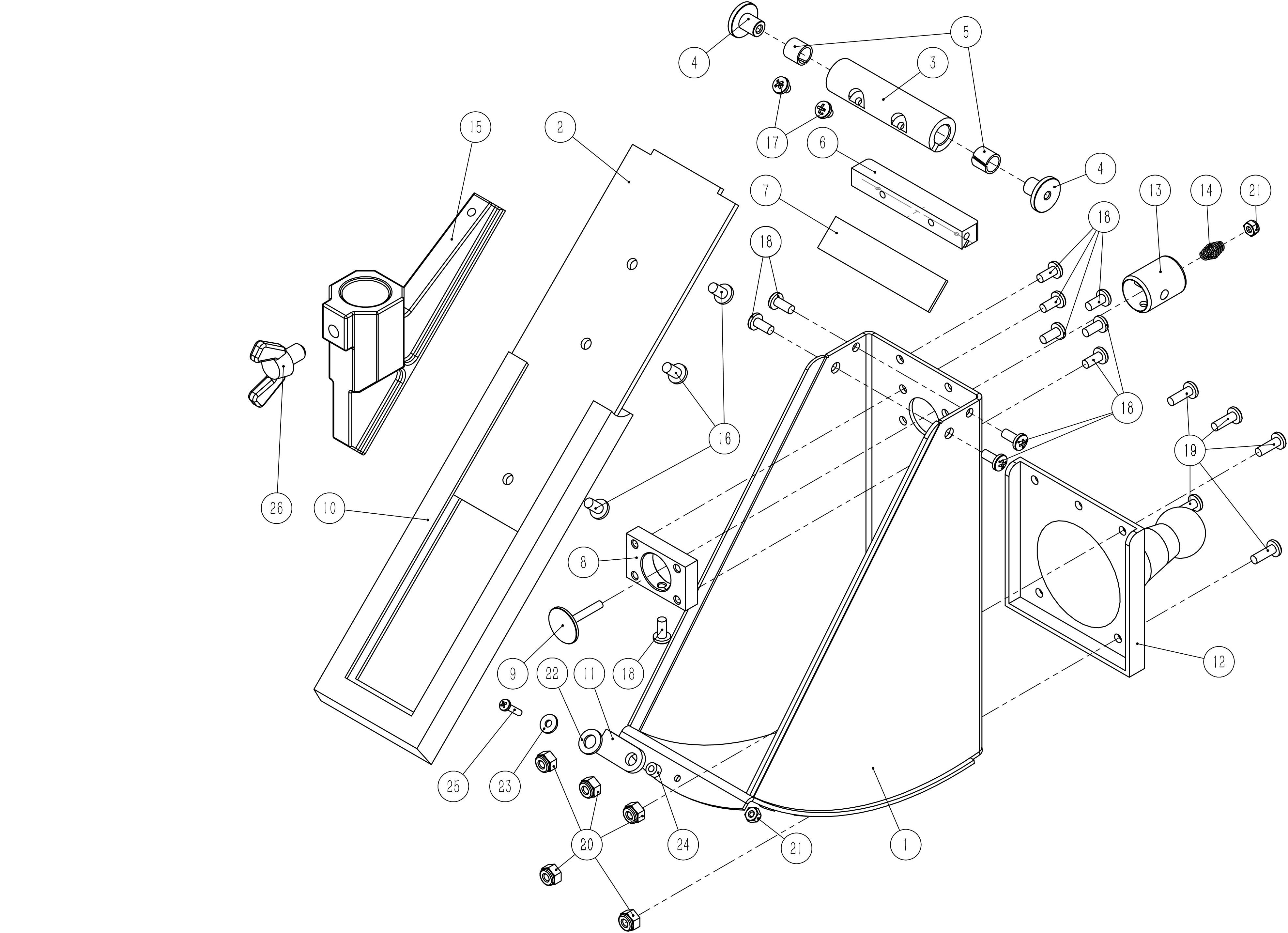 Platinum Corner Box Parts List