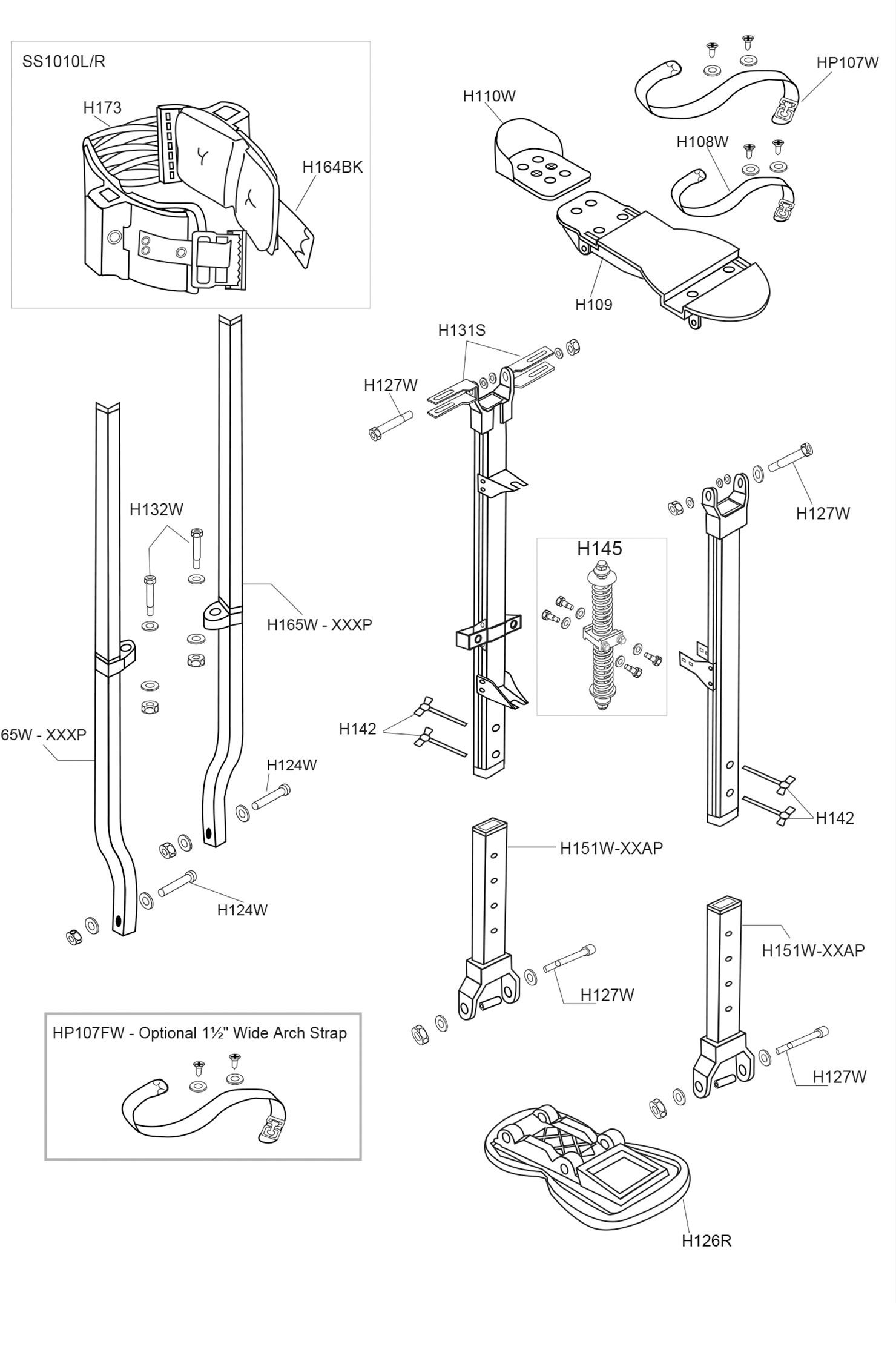 Sur-Stilt S2 Mag Parts List