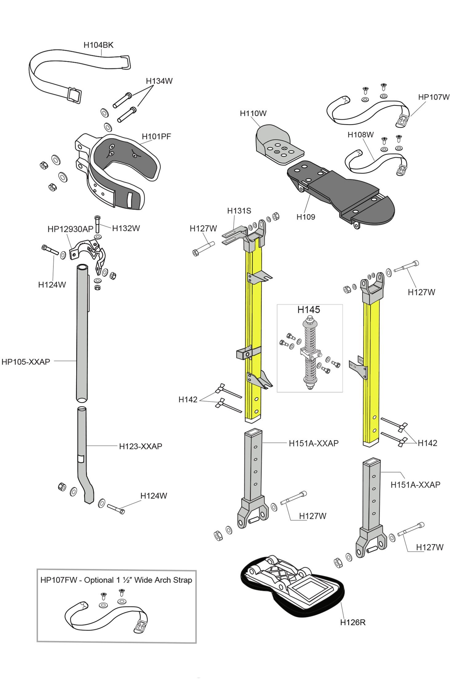 Sur-Stilt Mag Parts List
