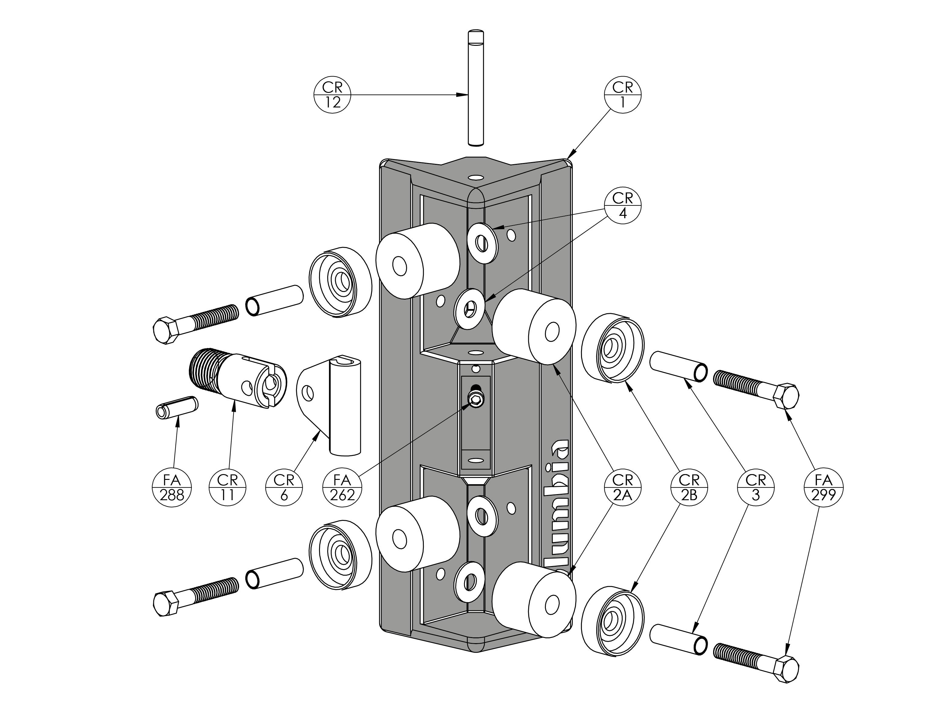Columbia Corner Roller Parts List