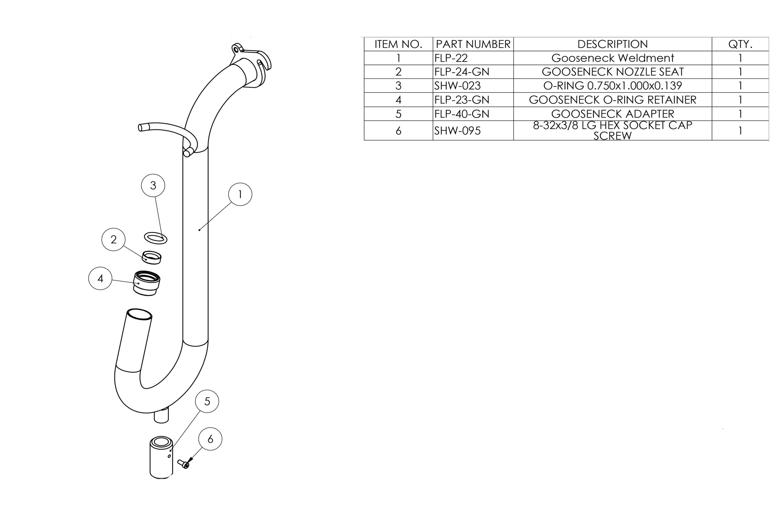 Gooseneck Parts List