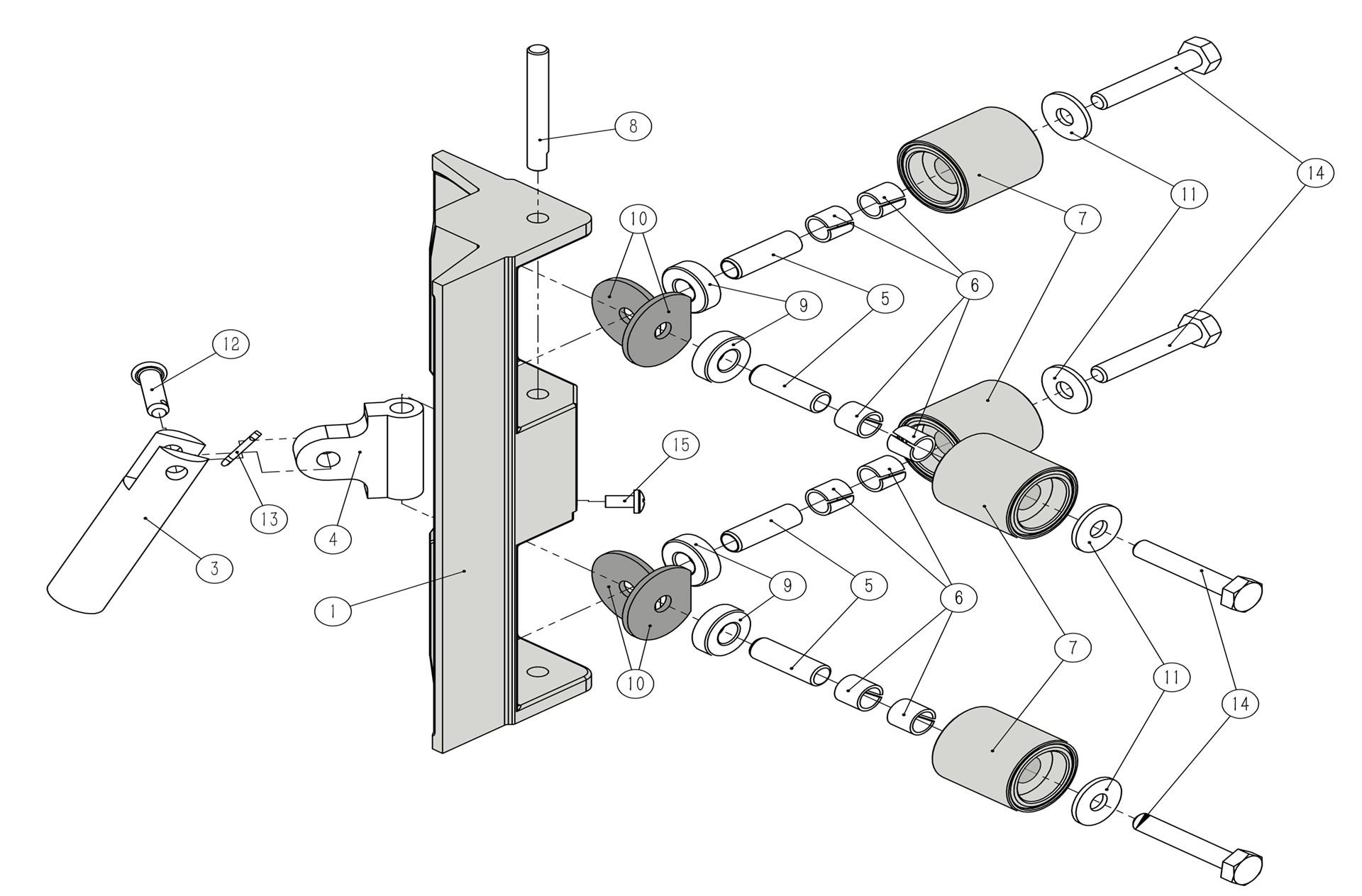 Platinum Corner Roller Parts List