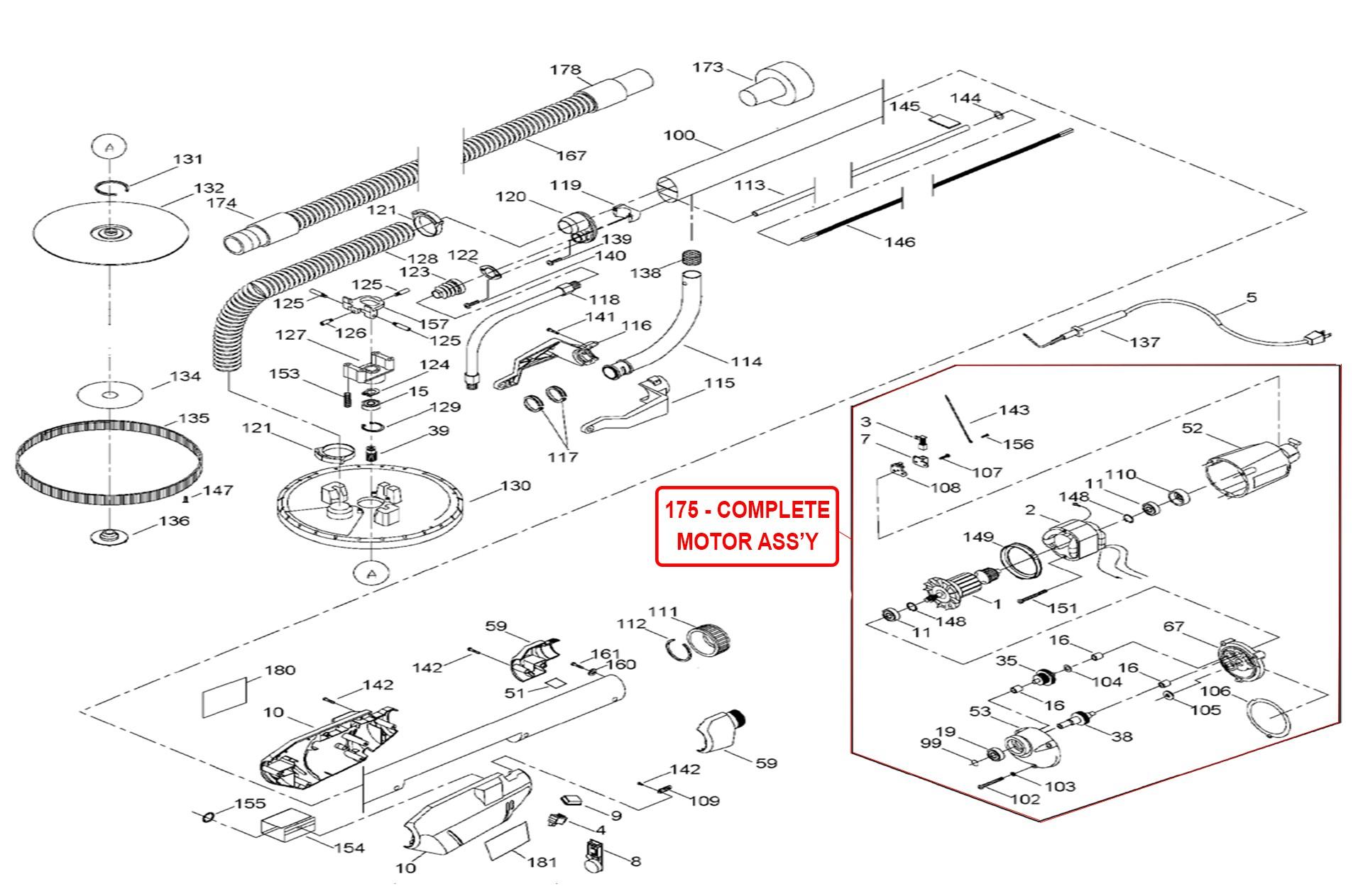 Porter Cable 7800 Parts List