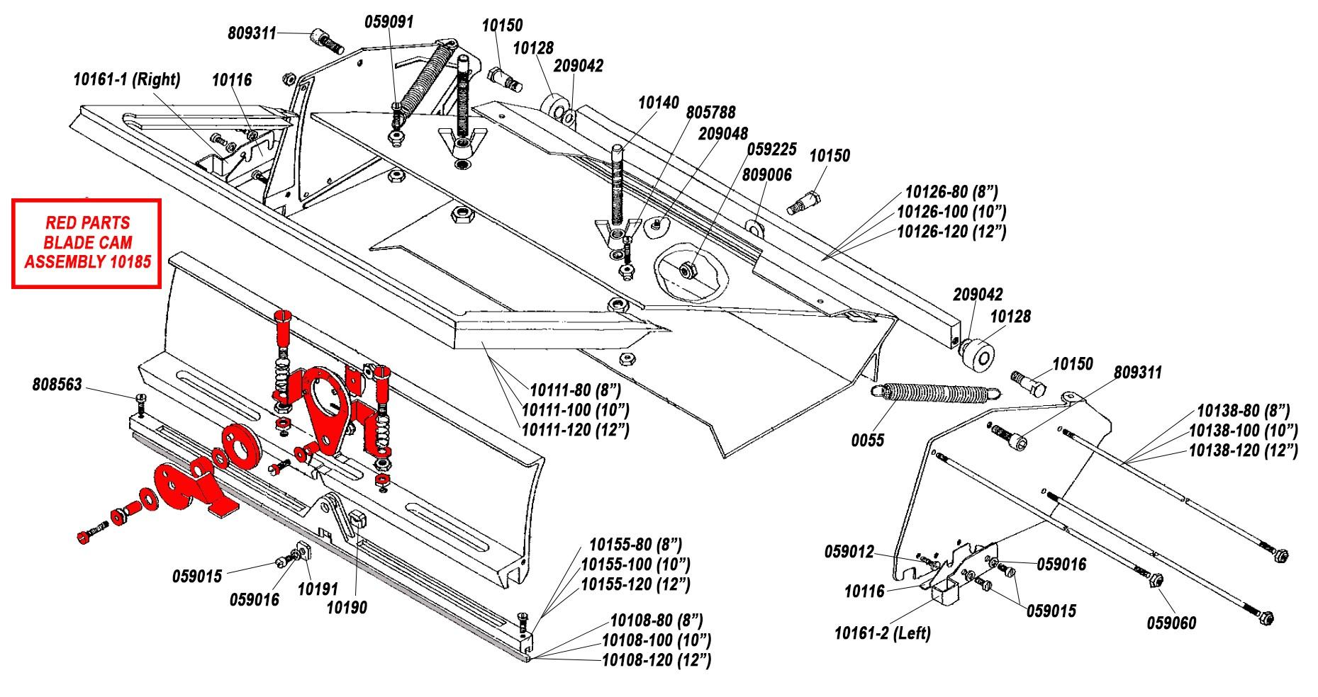 TapeWorm Flat Box Parts List