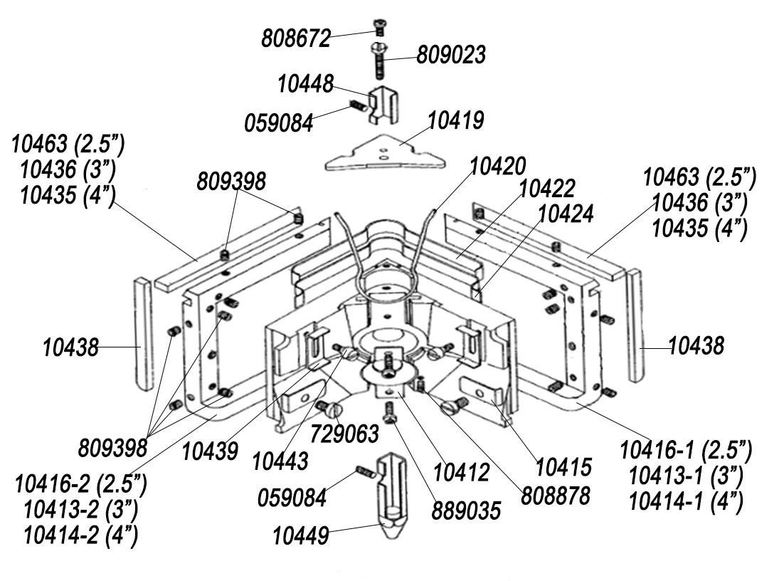 Angle Head Parts List