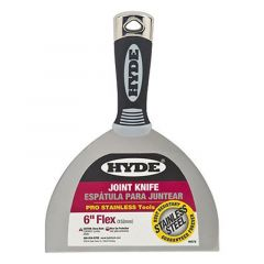 """HYDE 6"""" Flexible Pro Stainless Drywall Putty Knife - 06878"""