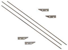 "Columbia 12"" Flat Box Blade Kit 501C12 - 3 Blades, 2 Sets of Skid Covers"