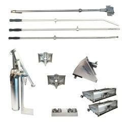 """Platinum Drywall Finishing Set w/10"""" & 12"""" Boxes w/ 2.5"""" and 3.5"""" Angle Heads"""