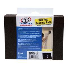 Trim-Tex Black Widow 560 Drywall Sanding Pads Coarse 100 Grit 6-Pack