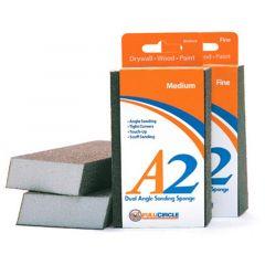 A2 Dual Angle Medium Abrasive Drywall Sponges 100ct